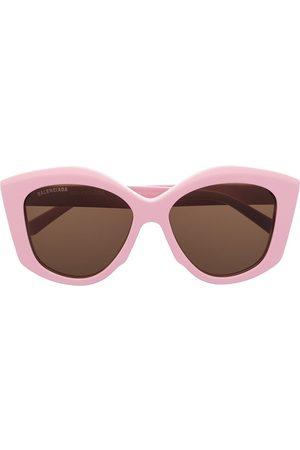 Balenciaga Dynasty oversized geometric-frame sunglasses