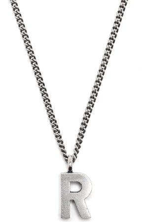 RAF SIMONS R letter necklace