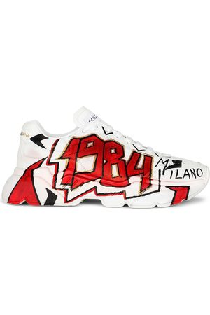 Dolce & Gabbana Men Sneakers - Graffiti print chunky sneakers