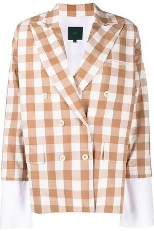 JEJIA Check-print double-breasted blazer