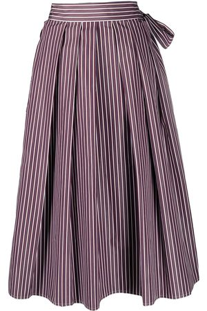 SOFIE D'HOORE Stella stripe-print box-pleat midi skirt