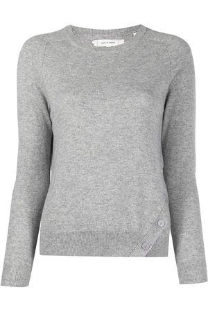 Chinti And Parker Women Jumpers - Diagonal contrast placket jumper