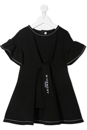 Givenchy Embroidered logo ruffled dress