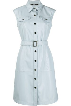 Karl Lagerfeld Belted sleeveless mini dress