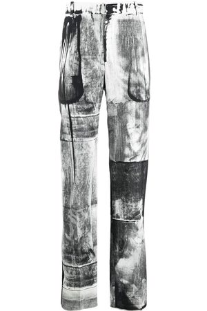 Alexander McQueen X-ray print tailored trousers