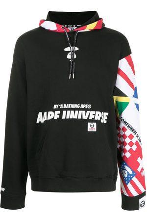 AAPE BY A BATHING APE Men Sweatshirts - Oversized patchwork print hoodie