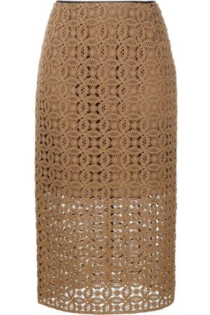 Dorothee Schumacher Women Midi Skirts - Bold Statement crochet midi skirt