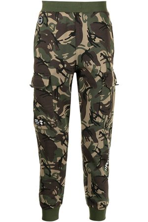 AAPE BY A BATHING APE Men Cargo Pants - Camouflage print cargo track trousers