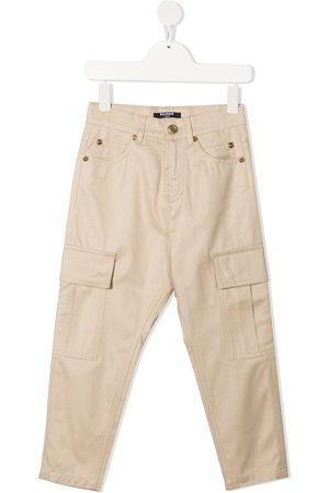 Balmain Cargo pocket straight-leg jeans
