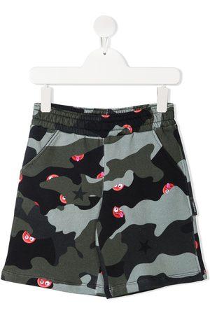 Neil Barrett Kids Boys Shorts - Camouflage-print elasticated-waist shorts