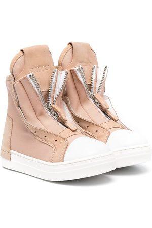 CINZIA ARAIA Front zip high-top sneakers