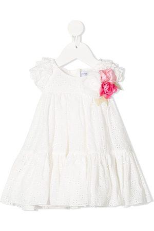 MONNALISA Baby Printed Dresses - Floral-detail ruffled midi dress
