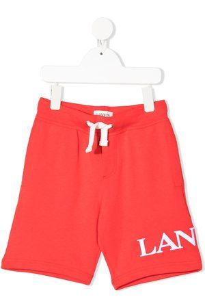 Lanvin Logo print track shorts