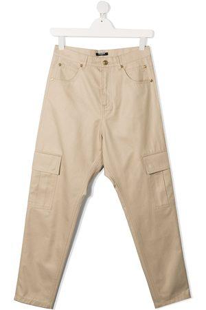 Balmain Kids TEEN cargo pocket straight-leg jeans