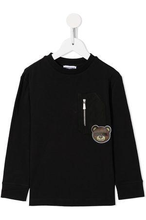 Moschino Boys Long Sleeve - Teddy Bear patch T-shirt