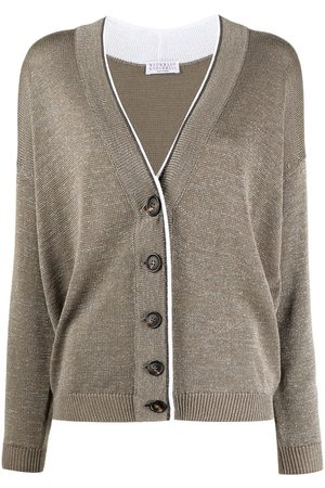 Brunello Cucinelli Monili trim long-sleeved cardigan