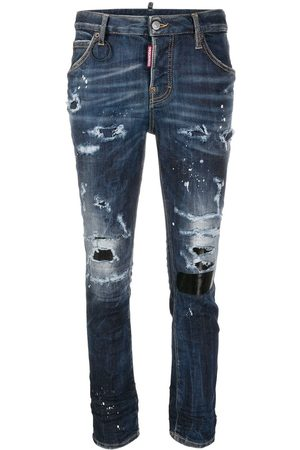 Dsquared2 Women Skinny - Stud-embellished ripped jeans
