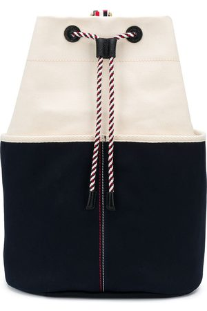 Thom Browne Two-tone bucket backpack