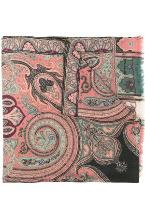Etro Paisley-print wool-blend scarf
