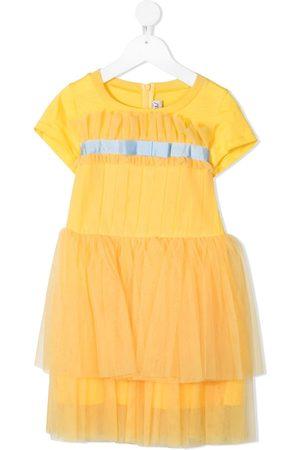 Simonetta Ruffled short-sleeved T-shirt dress