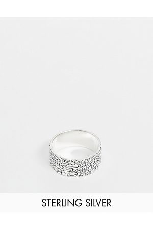 ASOS Sterling band ring with texture in