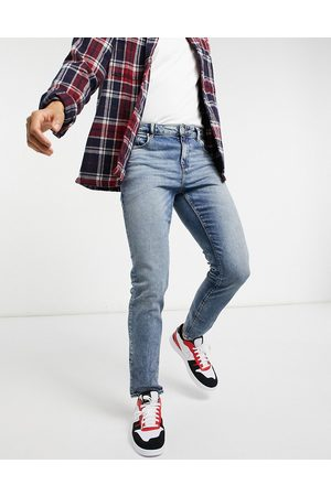 ASOS Stretch slim jeans in tinted mid wash