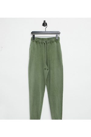 COLLUSION Oversized joggers in acid wash in khaki