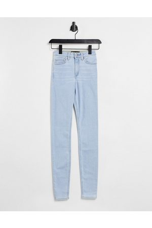 ASOS DESIGN High rise ridley 'skinny' jeans in pretty lightwash