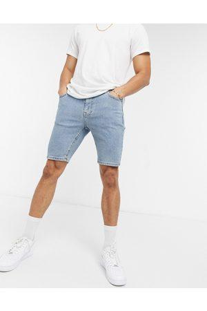 ASOS Skinny denim shorts in flat light wash
