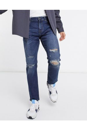 New Look Men Slim - Slim jeans with rips in mid