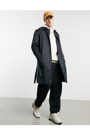 ASOS Single breasted trench coat with poppers in