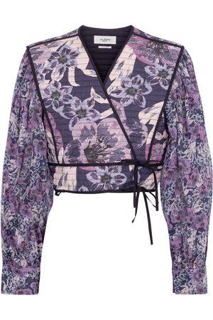 Isabel Marant Women Blouses - Halita floral cropped blouse