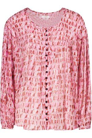Isabel Marant Sorionea tie-dye georgette blouse