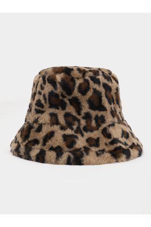 YOINS Leopard Faux Fur Fisherman Hat