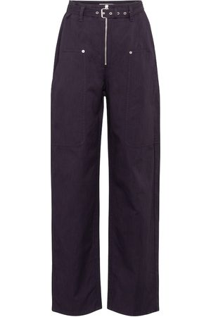 Isabel Marant Women Pants - Paggy belted cotton and linen pants