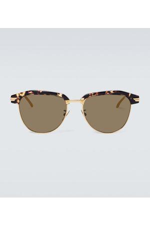 Bottega Veneta Square-framed metal sunglasses