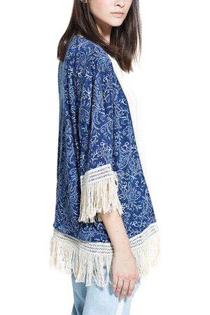 YOINS Tribal Printed Kimono With Tassel