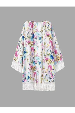 YOINS Tassel Fresh Print Kimono