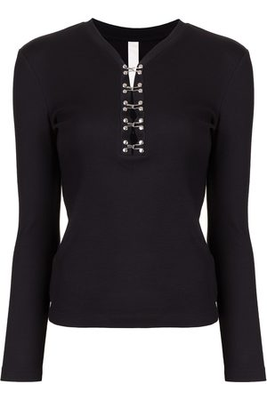 DION LEE Henley long-sleeve top
