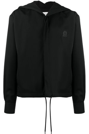 Lanvin Logo patch button-up hoodie