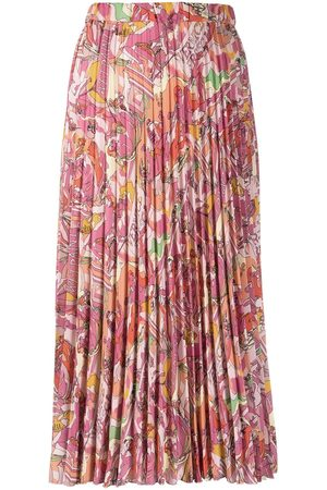 Iceberg Abstract-print midi skirt