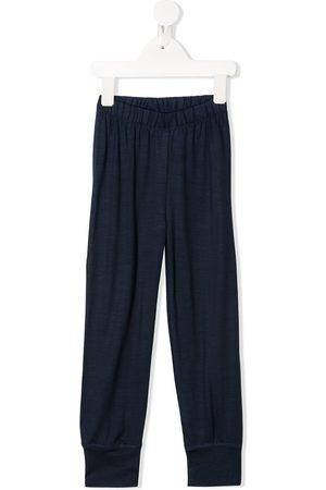 Knot Merino wool fine knit track pants