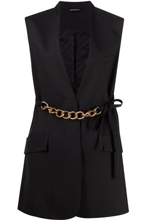 Givenchy Chain-link belt vest jacket