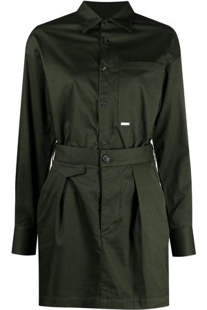 Dsquared2 Pleat-detail belted shirt-dress