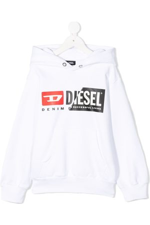 Diesel Combination-logo print hoodie