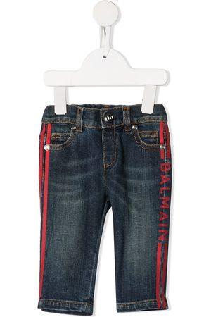 Balmain Logo stripe jeans