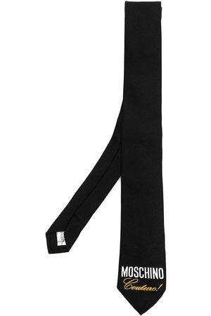 Moschino Men Bow Ties - Couture! logo-print silk tie