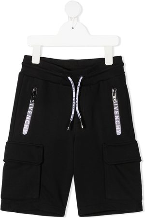 Givenchy Logo-tape knee-length track shorts