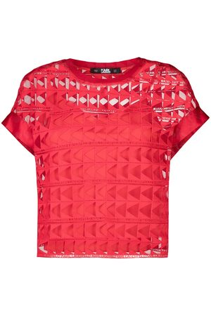 Karl Lagerfeld Women Tops - Embroidered mesh top