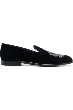 Dolce & Gabbana Men Slippers - Leonardo embroidered slippers